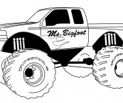 Coloring pages Monster Truck Ms.Bigfoot