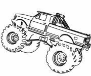 Coloring pages Monster Truck on computer