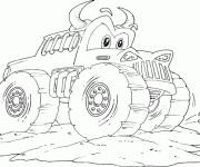 Free coloring and drawings Monster Truck online Coloring page