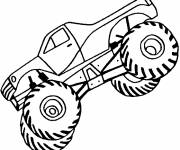 Coloring pages Monster Truck rearing up