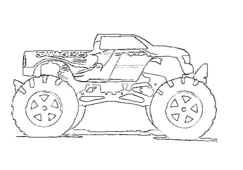 Free coloring and drawings Monster Truck Savage Coloring page