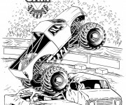 Coloring pages Monster Truck show