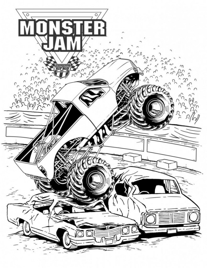 Free coloring and drawings Monster Truck show Coloring page
