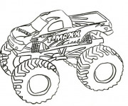 Coloring pages Monster Truck T-Maxx