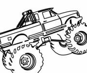 Free coloring and drawings Monster Truck to cut Coloring page