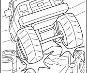 Coloring pages Monster Truck to decorate