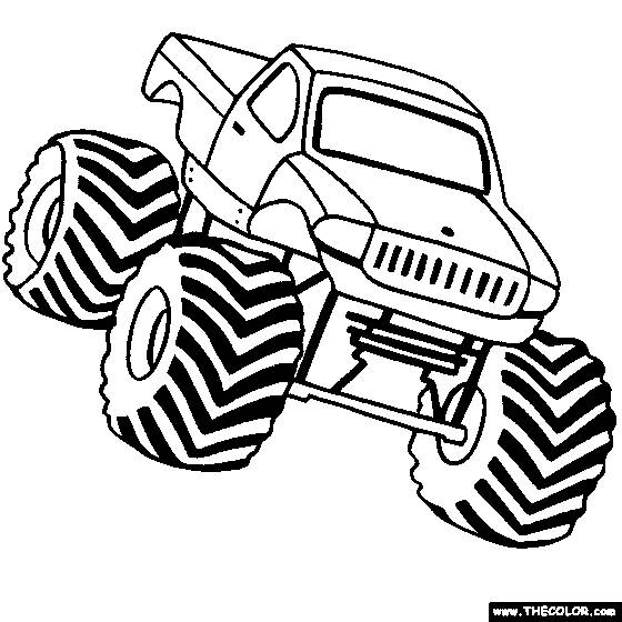 Free coloring and drawings Monster Truck to download Coloring page