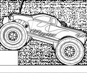 Coloring pages Monster Truck toy