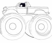 Coloring pages Monster truck vector
