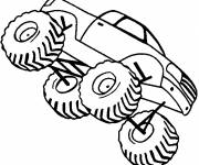 Coloring pages Monster Truck vehicle