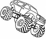 Coloring pages Monster Truck with oversized wheels