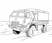 Coloring pages Police truck