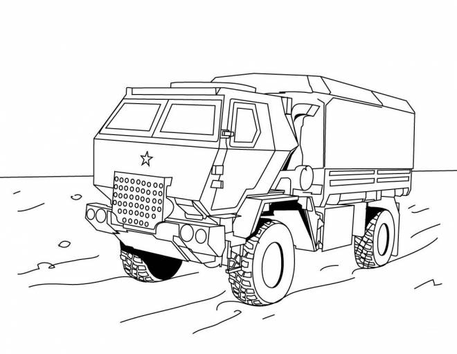 Free coloring and drawings Police truck Coloring page