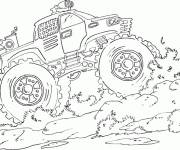 Free coloring and drawings Powerful monster truck Coloring page