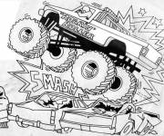 Coloring pages The Monster Truck show