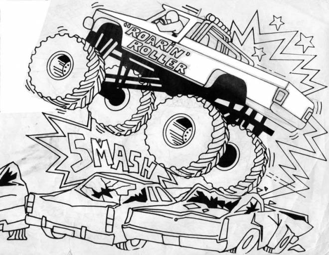 Free coloring and drawings The Monster Truck show Coloring page