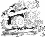 Free coloring and drawings The Show the Monster Truck Coloring page