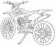 Free coloring and drawings Classic motocross Coloring page