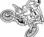 Coloring pages Easy motocross