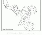 Coloring pages Freestyle jump motocross