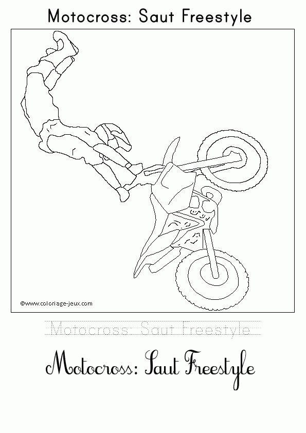 Free coloring and drawings Freestyle jump motocross Coloring page