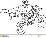 Coloring pages Illustrations Motocross freestyle