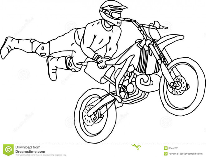 Free coloring and drawings Illustrations Motocross freestyle Coloring page