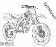 Coloring pages Kawasaki Motocross for show