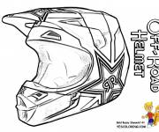 Free coloring and drawings Moto Cross Helmet Coloring page