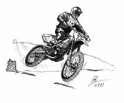 Coloring pages Motocross and small jump