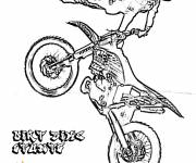 Coloring pages Motocross and the magnificent jump
