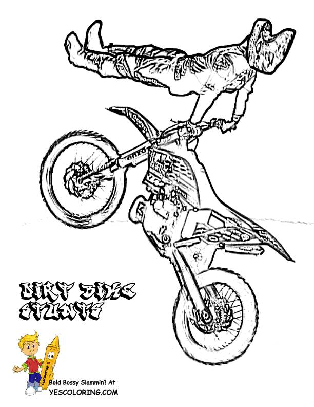 Free coloring and drawings Motocross and the magnificent jump Coloring page