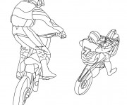 Coloring pages Motocross cabrage