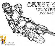 Coloring pages Motocross Crusty Demons