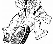 Coloring pages Motocross for children
