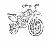 Free coloring and drawings Motocross for Extreme Sport Coloring page