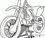 Coloring pages Motocross front view