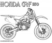 Coloring pages Motocross Honda CRF