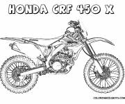 Coloring pages Motocross Honda CRF-450x