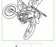 Coloring pages Motocross jump