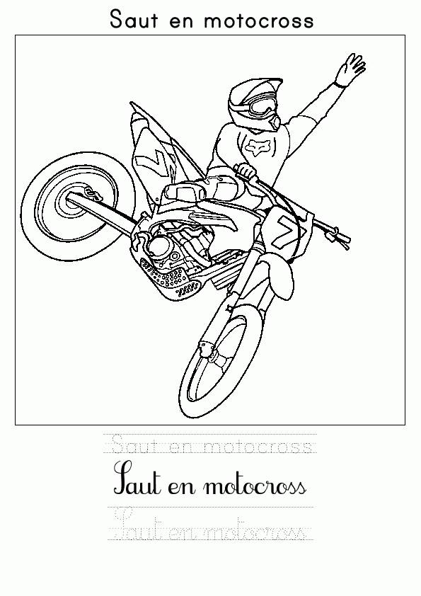 Free coloring and drawings Motocross jump Coloring page