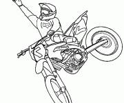 Coloring pages Motocross jumping extreme sport
