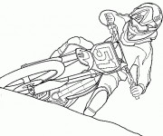 Coloring pages Motocross Ktm
