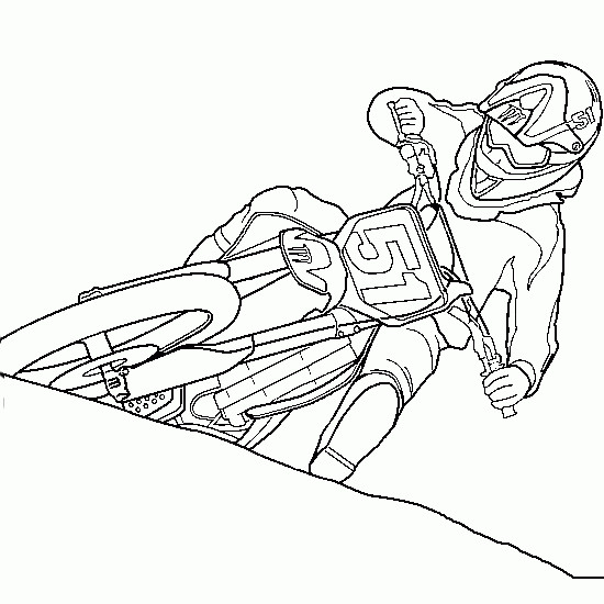 Free coloring and drawings Motocross Ktm Coloring page