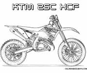 Coloring pages Motocross Ktm for cutting