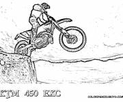 Coloring pages Motocross on mountain
