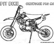 Free coloring and drawings Motocross Pit Bike Coloring page