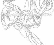 Coloring pages Motocross sports show