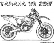 Coloring pages Motocross Yamaha WR