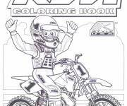 Coloring pages Motorcyclist and Motocross for coloring